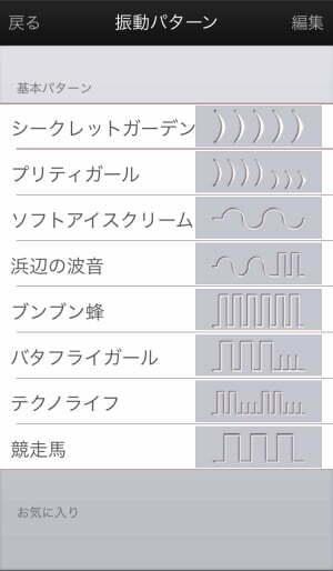 ケーゲルメイト8つの振動パターン