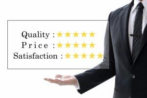 Quality,Price,Satisfaction