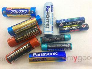 色々な種類の乾電池