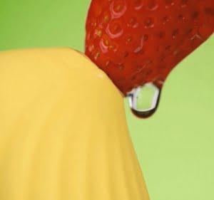 カドリーバードの吸引口とイチゴ
