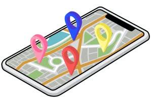 スマホの地図アプリと位置情報